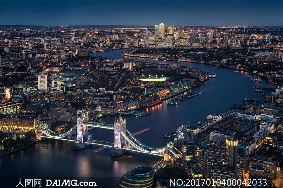 欧式拱桥摄影图片
