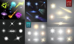 缤纷绚丽多彩光效主题元素矢量素材