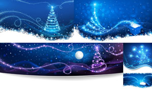 绚丽星光装饰的礼物盒创意矢量素材