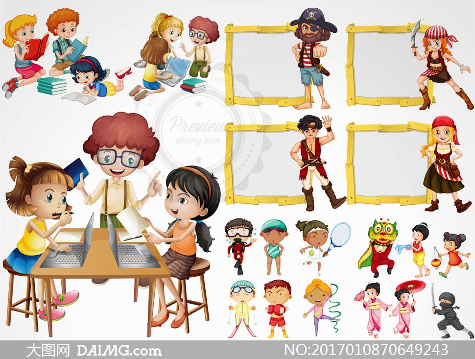 关 键 词: 矢量素材矢量图设计素材创意设计卡通儿童人物小朋友小男孩