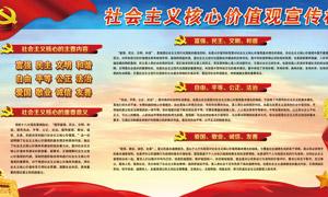 社会主义核心价值观宣传栏PSD模板