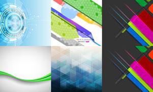 线条与几何元素等抽象背景矢量素材