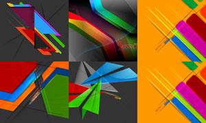 光效元素与几何抽象背景等矢量素材