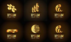 金色尊贵奢华标志创意设计矢量图V1