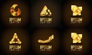 金色尊贵奢华标志创意设计矢量图V2