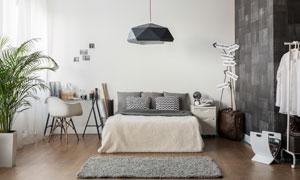 现代装修风格卧室内景摄影高清图片