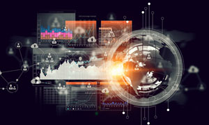 统计图等元素商务创意设计高清图片