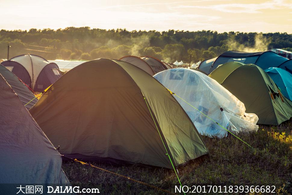 词: 高清大图图片素材摄影自然风景风光树木树丛树林草地帐篷户外野外