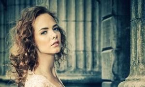 蕾丝婚纱礼服美女写真摄影高清图片