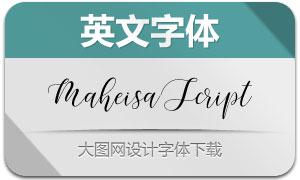 MaheisaScript(手写艺术英文字体)