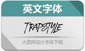 Trapstyle(飞白效果英文字体)