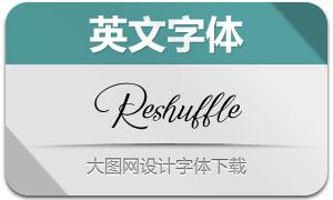Reshuffle(英文字体)