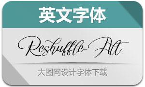 Reshuffle-Alternate(英文字体)