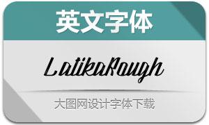 LatikaRough系列三款英文字体