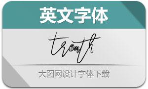 Treath(手写风格英文字体)