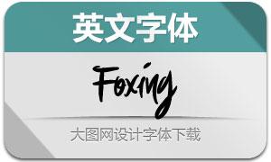 Foxing(英文字体)