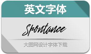 Spontance(英文字体)