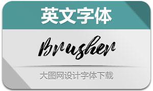 Brusher(英文字体)