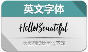 HelloBeautiful系列三款英文字体