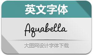 Aquabella系列三款英文字体
