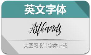 Arthands系列三款英文字体