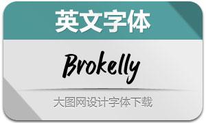 Brokelly(英文字体)