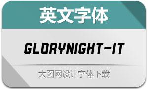 Glorynight-Italic(英文字体)