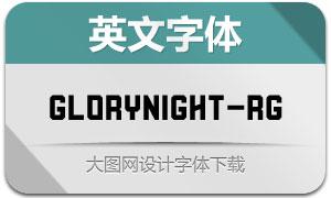 Glorynight-Regular(英文字体)