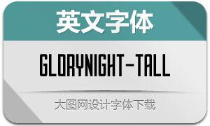 Glorynight-Tall(英文字体)