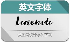 Lemonade(手写风格英文字体)