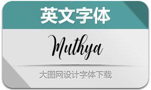 Muthya(手写英文字体)