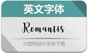 Romantis(英文字体)