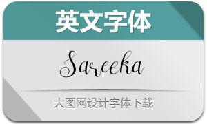 Sareeka(英文字体)