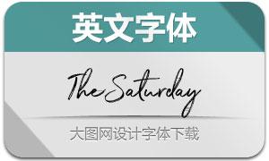 TheSaturday系列三款英文字体