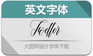 Twetter(英文字体)