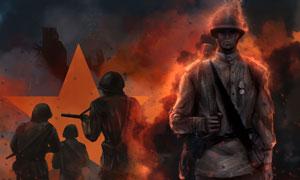 战场上的士兵画面游戏角色高清图片