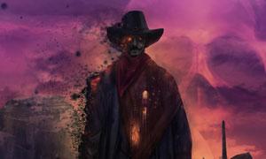 慢慢消散成灰烬的游戏角色高清图片