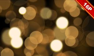金色亮闪闪的光斑散景背景高清图片