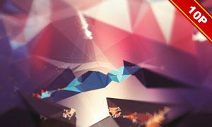 几何立体元素抽象创意背景高清图片