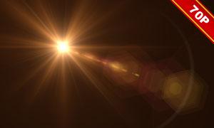 七十款实用光晕光线等图层叠加素材
