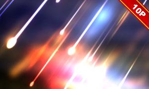 夜空中炫丽流星雨主题背景高清图片