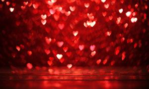 红色桃心光斑梦幻背景摄影高清图片