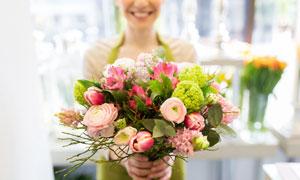整理好的花束近景特写摄影高清图片