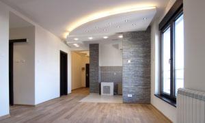 房间吊顶灯光照明效果摄影高清图片