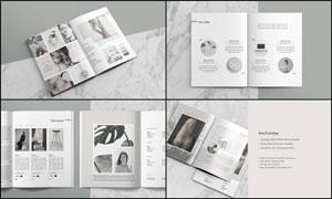 文艺风写真画册设计模板PSD素材
