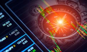 股市行情与指南针创意设计高清图片