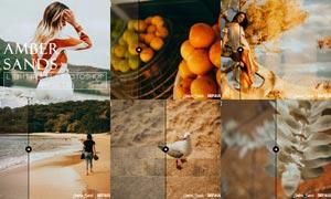 数码照片橙黄色艺术效果LR预设