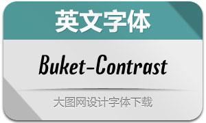 Buket-Contrast(英文字体)