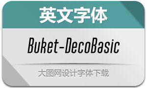 Buket-DecoBasic(英文字体)