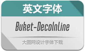 Buket-DecoInline(英文字体)